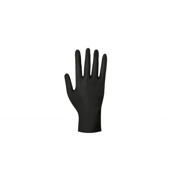 Gloves BLACK, NITRIL, non-sterile, powder-free, 100 pcs.