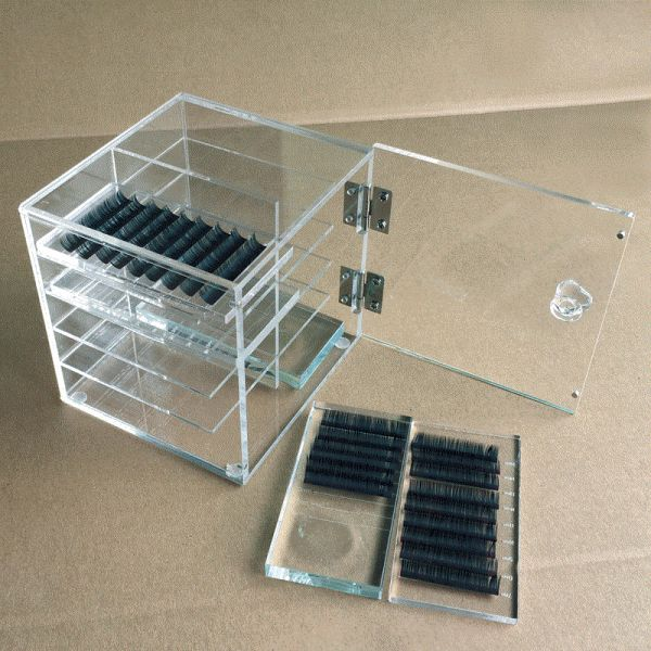 LASHES acrylic box, filled with 8 crystal plates, 1 pc.