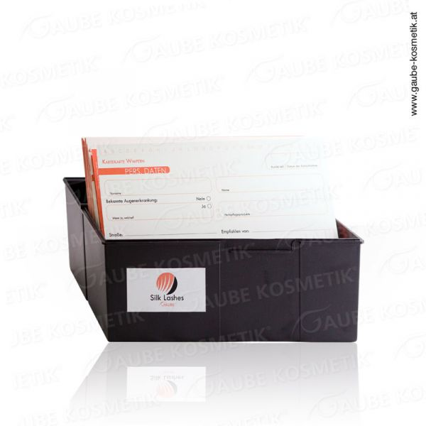 Card index box (22,7 x 10 x 17 cm) + 100 pcs. Card index sheets