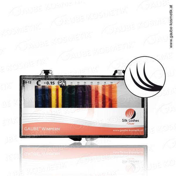 Gaube Silk Lashes Color Mixbox, 0.15, C, 10-12
