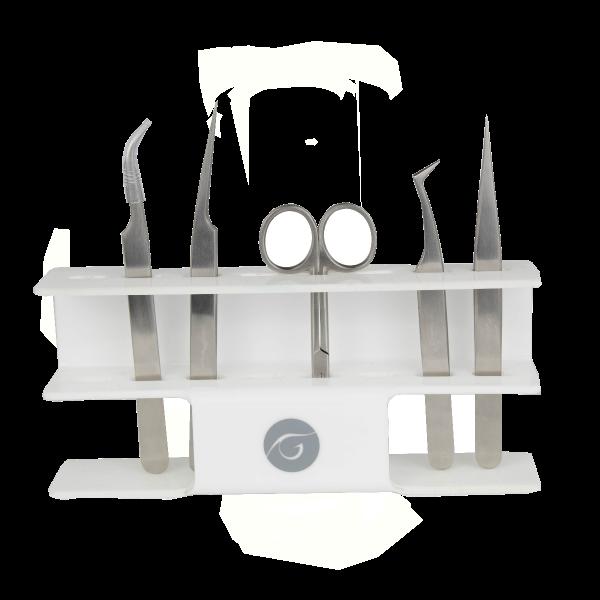 LASHES Acryl Display für Pinzetten mit 8 Löchern, 1 Stk, weiss