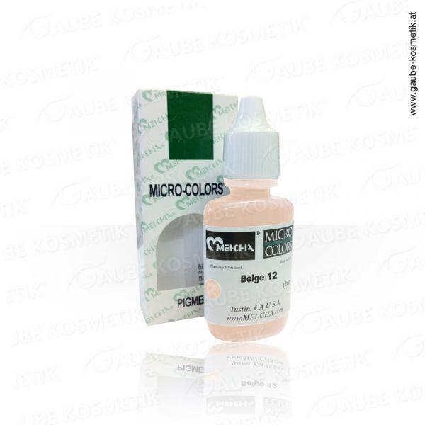 Micro Pigmentfarbe - Beige 12, 12 ml