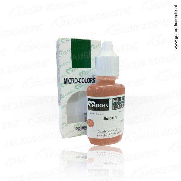 Micro Pigmentfarbe - Beige 1, 12 ml