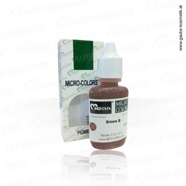 Micro Pigmentfarbe - Brown 8, 12 ml